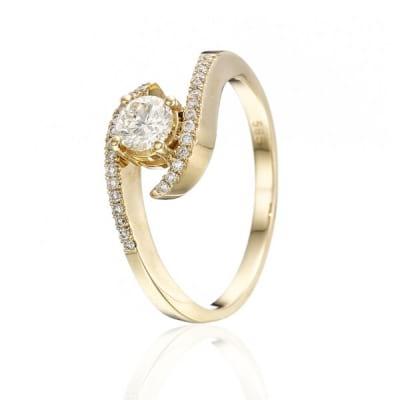 Бриллиантовая оправа кольцо с круглой вставкой 1 карат