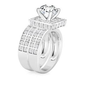 Дорогое бриллиантовое кольцо с оригинальным кастом