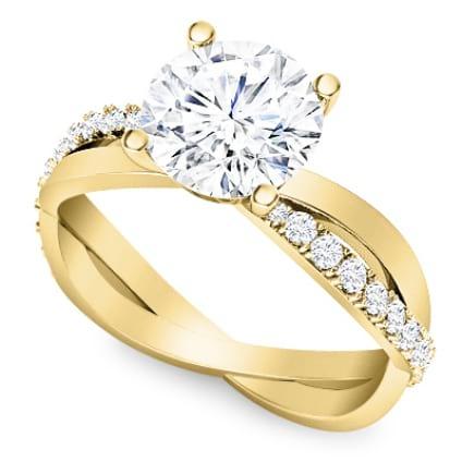Изящное кольцо с бриллиантом для помолвки