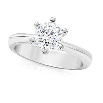 Помолвочное кольцо с шестью лапками для бриллианта 1 карат