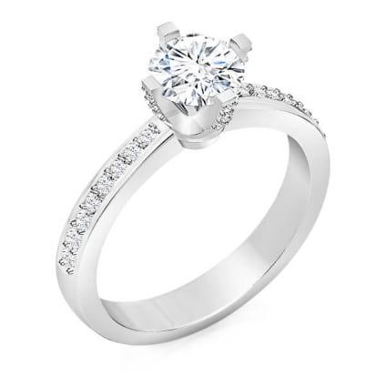 Эксклюзивное помолвочное кольцо в классическом дизайне