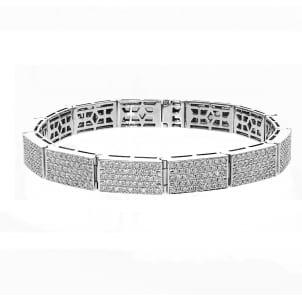 Бриллиантовый браслет из белого золота