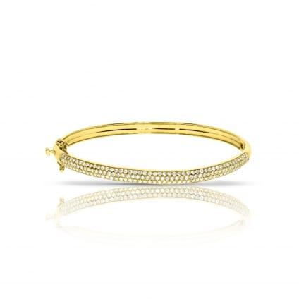 Золотой браслет с бриллиантами 1.28 карат