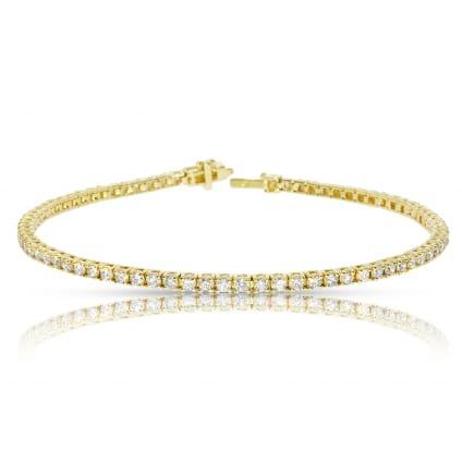 Браслет из желтого золота с бриллиантами 2 карата