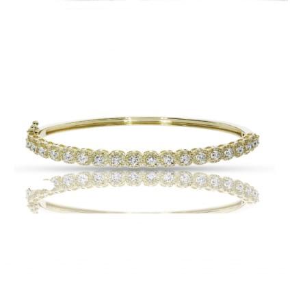 Браслет с дорожкой круглых бриллиантов