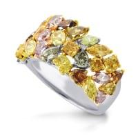 Кольца с разноцветными бриллиантами - mix