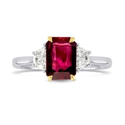 Бриллиантовое кольцо с рубином 1.80 карат