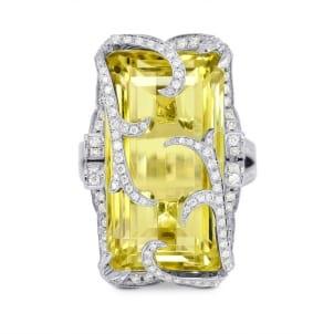 Кольцо с большим цитрином 24.92 карата