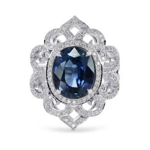 Бриллиантовое кольцо с сапфиром 3.42 карат