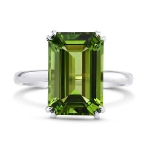 Кольцо с большим зеленым турмалином 5.67 карат