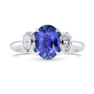 Бриллиантовое кольцо с овальным сапфиром 1.48 карата