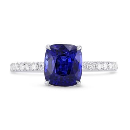 Бриллиантовое кольцо с большим сапфиром 2.66 карат