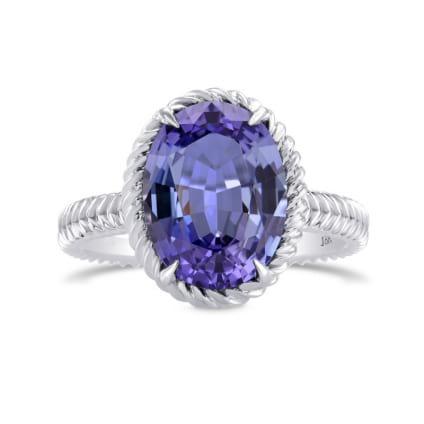 Дизайнерское кольцо с овальным танзанитом 4.04 карат