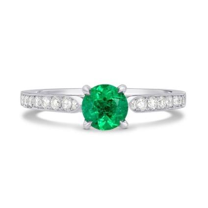 Бриллиантовое кольцо с изумрудом 0.50 карат