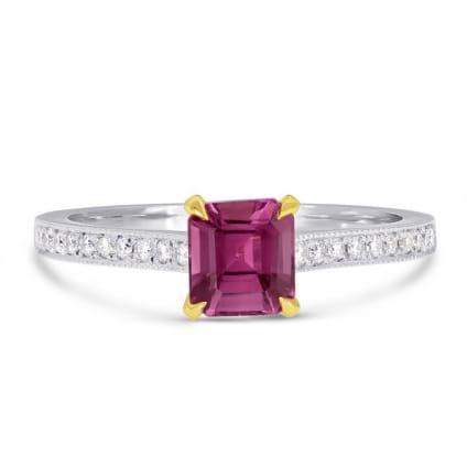 Бриллиантовое кольцо с розовым турмалином 0.80 карат