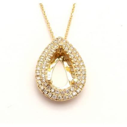 Оправа подвески для крупного бриллианта Капля