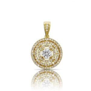 Подвеска желтое золото с бриллиантом