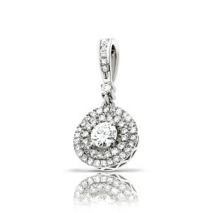 Круглый кулон с центральным бриллиантом