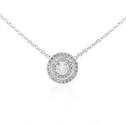 Оправа кулона для круглого бриллианта от 0.50 карата