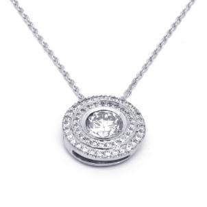 Оправа подвеска белое золото бриллиант от 0.3 карата