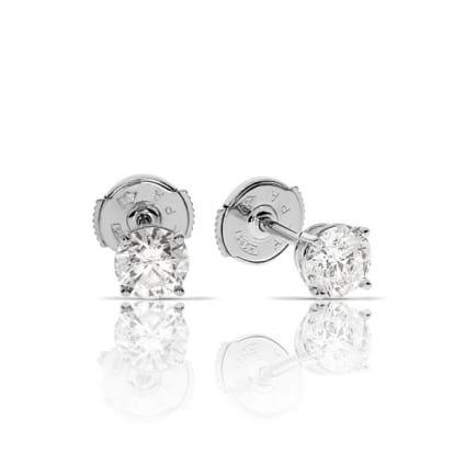 Классические пусеты с бриллиантами 2 карата
