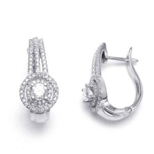 Изысканные серьги с бриллиантами от 0.30 карата