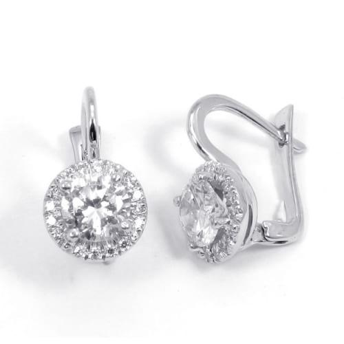модные сережки с бриллиантами в какой огранке