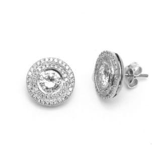 Оправа пусет для пары бриллиантов от 0,5 карата
