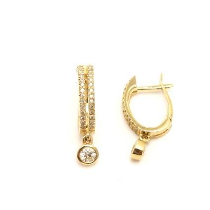 Оправа серьги розовое золото для бриллиантов от 0,3 карата