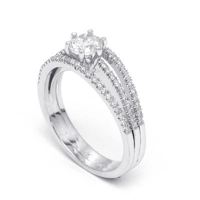 Бриллиантовая оправа кольца для вставки от 0.50 карата
