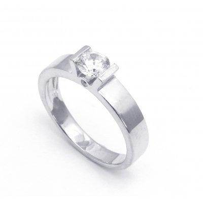 Белое золото с бриллиантом - оправа кольца
