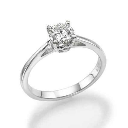 Оправа классического кольца для бриллианта 1 карат
