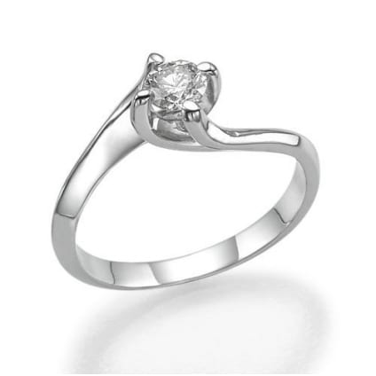 Оригинальная оправа кольца с 1 бриллиантом