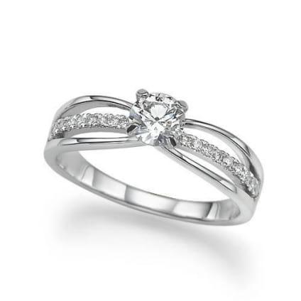 Стильная оправа бриллиантового кольца