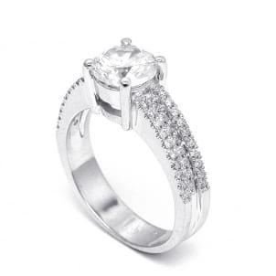 Оправа кольца для крупного бриллианта от 3 карат
