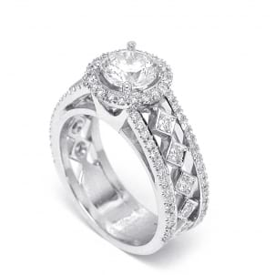 Оправа роскошное кольцо с бриллиантом один карат