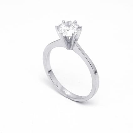 Оправа - классическое кольцо с бриллиантом