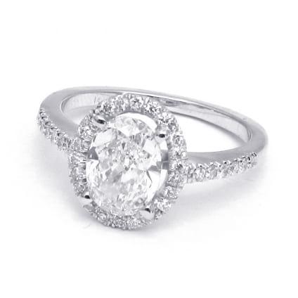Оправа для кольца с крупным овальным бриллиантом