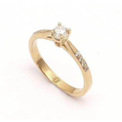 Тонкое колечко - оправа из розового золота для бриллианта