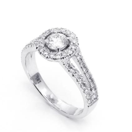 Золотая оправа кольца для бриллианта от 0.5 карата