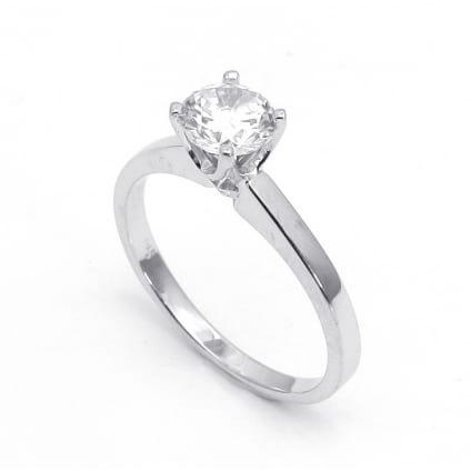 Золотое кольцо для 1 бриллианта