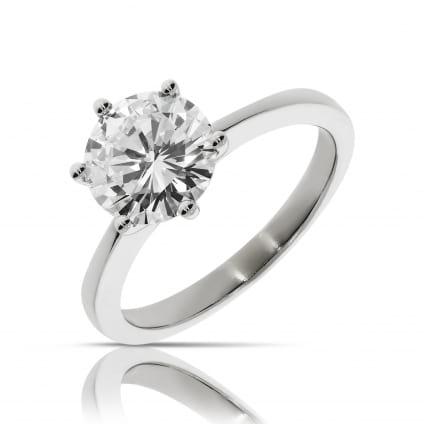 Классическое кольцо с бриллиантом 2 карата