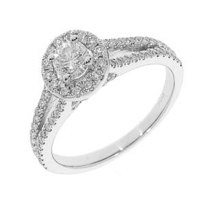 Помолвочное бриллиантовое кольцо