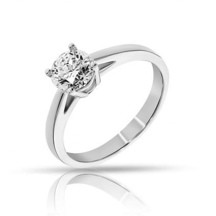 Кольцо с одиночным бриллиантом 1 карат Круг
