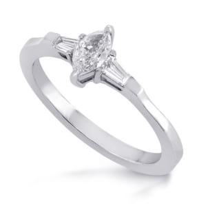 Оправа кольца для 3 бриллиантов фантазийной огранки