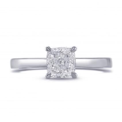 Недорогая оправа кольца с бриллиантом квадратной огранки