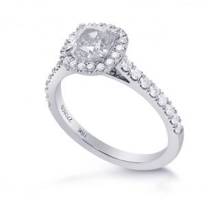 Элегантная оправа кольца с бриллиантом Кушион