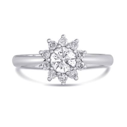 Оправа кольцо  Солнце c  бриллиантом 1 карат
