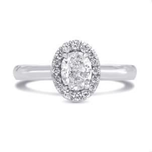 Оправа кольца для центрального бриллианта Овал