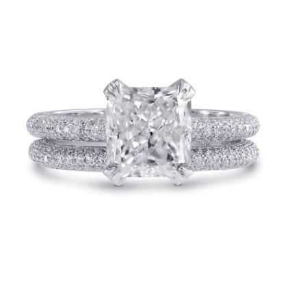 Оправа двойное кольцо с бриллиантом Радиант